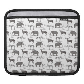 Prehistoric Animals - Woolly Mammoth and Megaceros Sleeve For iPads