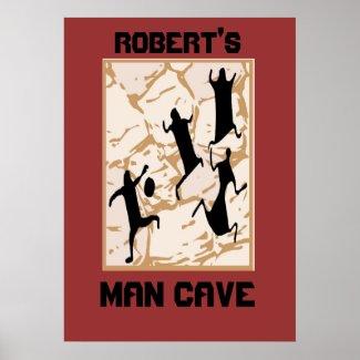 Prehistoric Basketball Cave Drawings, Robert's,... print