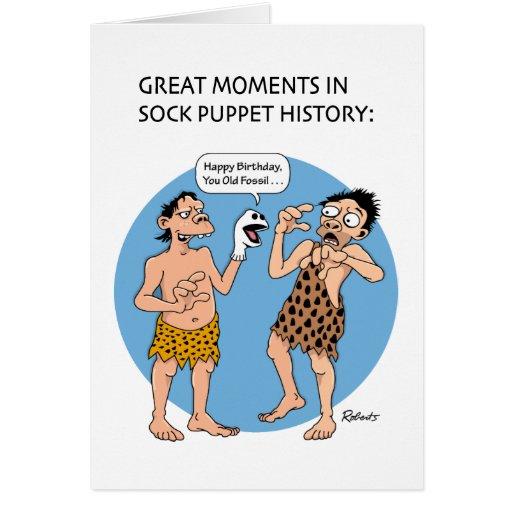 Prehistoric Birthday Humor Greeting Card