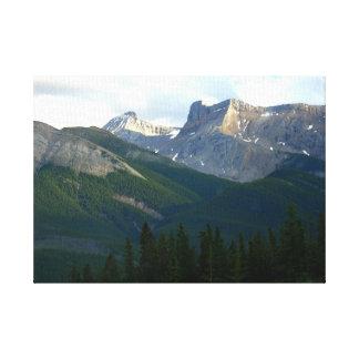 Prehistoric Canadian Rockies Near Jasper Canvas Print