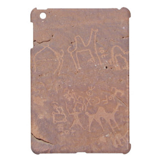 Prehistoric Carved Drawings In The Desert iPad Mini Covers