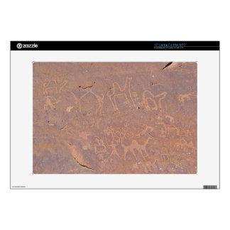 Prehistoric Carved Drawings In The Desert Skins For Laptops
