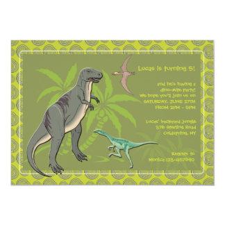 Prehistoric Creatures Dinosaur Invitations