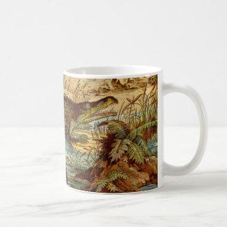 Prehistoric Crocodile Antique Print Classic White Coffee Mug