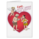 Prehistoric CUPID at work Greeting Cards