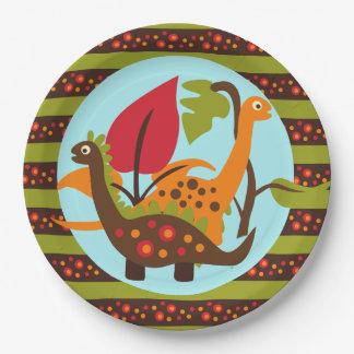 Prehistoric Dinos Kids Birthday Paper Plate