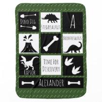 Prehistoric Dinosaur Dig & Name Receiving Blanket