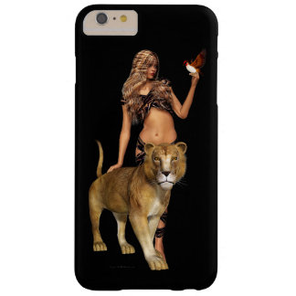 Prehistoric Fantasy Girl and Lion Barely There iPhone 6 Plus Case