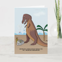 Prehistoric Greengrocer Greeting Card