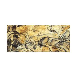 Prehistoric Lascaux Lions Canvas Art Print
