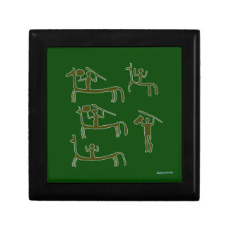 Prehistoric Man Cave Decoration - Green Gift Box