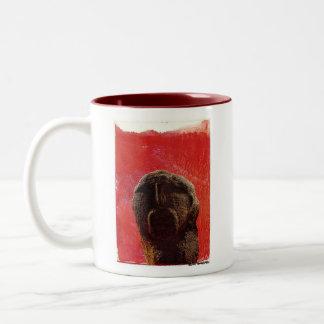 Prehistoric Man, RISE AND SHINE Two-Tone Coffee Mug