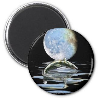 Prehistoric MOSASAUR & MOON Gift Range 2 Inch Round Magnet