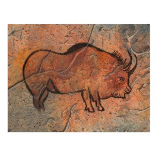 Prehistoric painting postcard