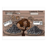 Prehistoric Retail Shopping Funny Gifts Tees Cards Postcard