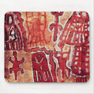 Prehistoric rock painting mouse pad