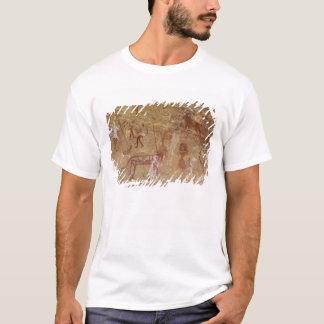 Prehistoric rock paintings, Akakus, Sahara T-Shirt