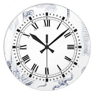 Prehistoric Sea Life - Crinoids, Ophiura Large Clock