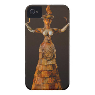 Prehistoric Snake Goddess iPhone 4 Case-Mate Case