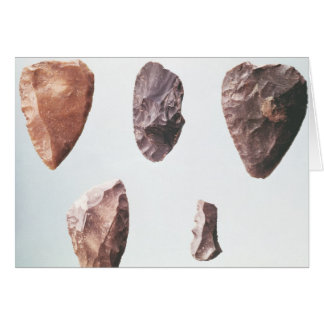 Prehistoric stone tools, from Grotte de Card