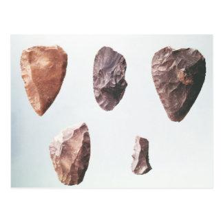 Prehistoric stone tools, from Grotte de Postcard