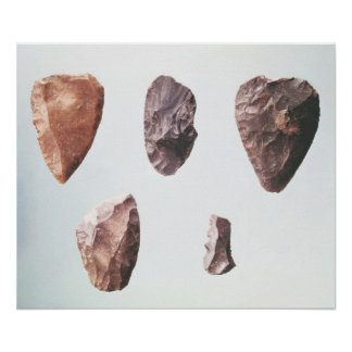 Prehistoric stone tools, from Grotte de Poster