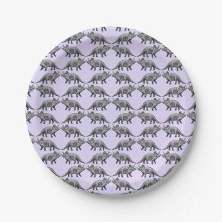 Prehistoric Triceratops Dinosaur Paper Plates