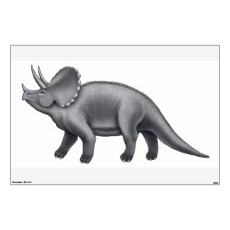 Prehistoric Triceratops Dinosaur Wall Decal