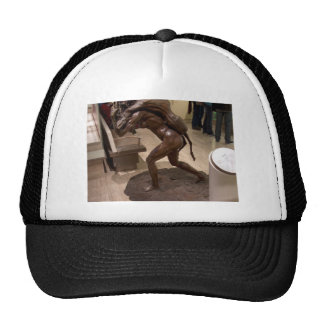 Prehistoric woman carrying an antelope trucker hat