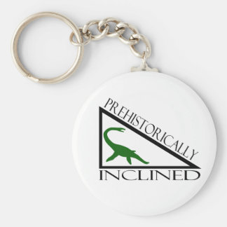 Prehistorically Inclined Keychain