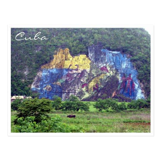prehistory mural postcard