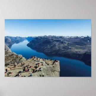Preikestolen (roca) del púlpito Noruega Posters