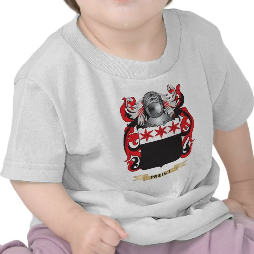 Preist Coat of Arms (Family Crest) Tshirts