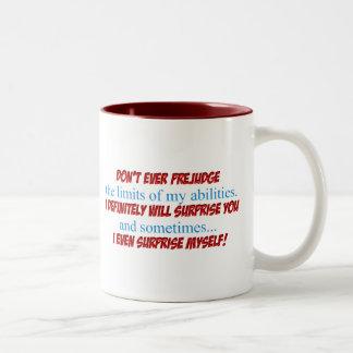 Prejudge Two-Tone Coffee Mug