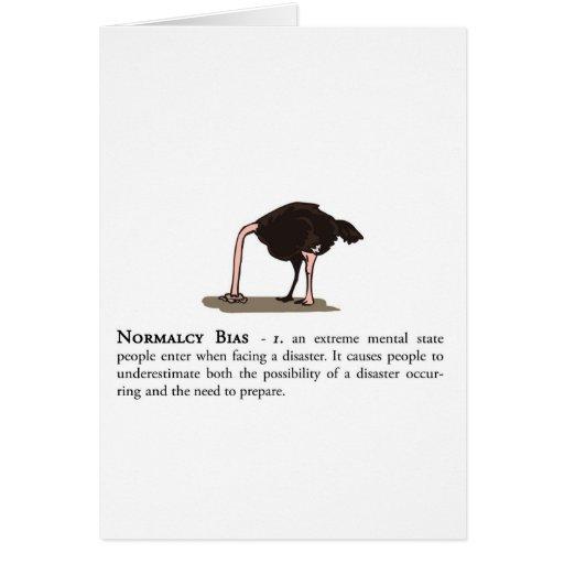 Prejuicio de la normalidad tarjeta de felicitación