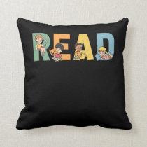 Prek Teacher Reading Kids Education Book Lover Throw Pillow