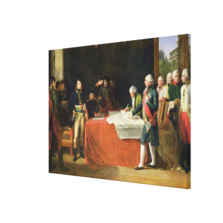 Preliminaries of the Peace Signed at Leoben Canvas Print