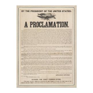 Preliminary Emancipation Proclamation Broadside Canvas Print