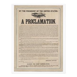 Preliminary Emancipation Proclamation Broadside Letterhead