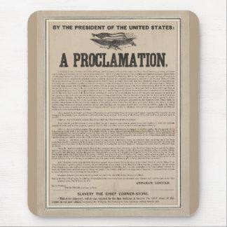 Preliminary Emancipation Proclamation Broadside Mouse Pad