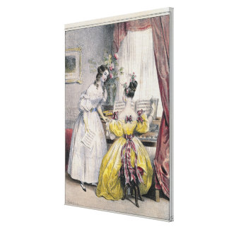 Prelude, from 'Journal des Femmes', 1830-48 Canvas Print