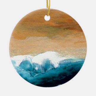 Prelude Sea Waves Ocean Art CricketDiane Ceramic Ornament