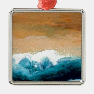 Prelude Sea Waves Ocean Art CricketDiane Metal Ornament