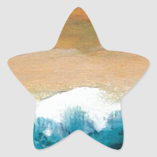 Prelude Sea Waves Ocean Art CricketDiane Star Sticker