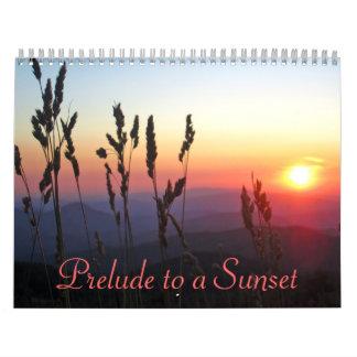 Preludio 2012 a un calendario de la puesta del sol