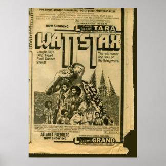 Premier 1973 de la película de Wattstax del poster
