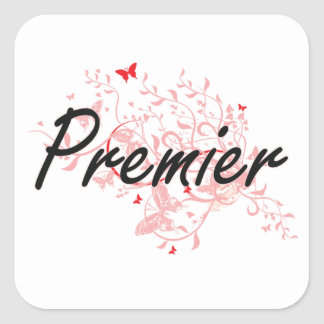 Premier Artistic Job Design with Butterflies Square Sticker