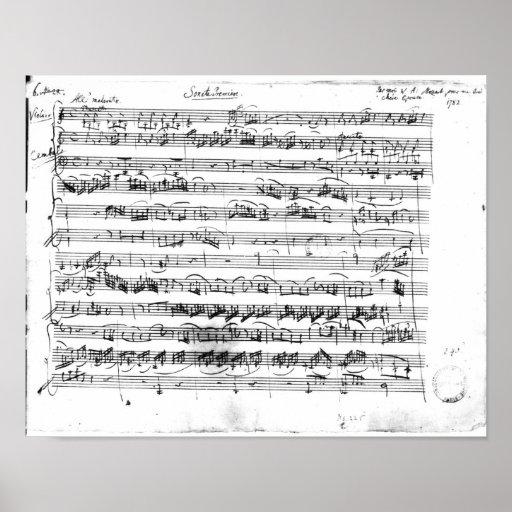 Premier de Sonate para el violín y el clavicordio Posters