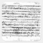 Premier de Sonate para el violín y el clavicordio Calcomanía Cuadradas Personalizadas