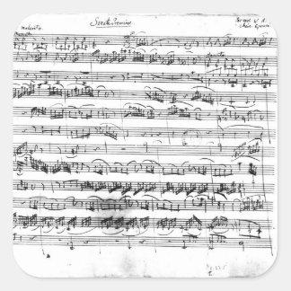 Premier de Sonate para el violín y el clavicordio Pegatina Cuadrada